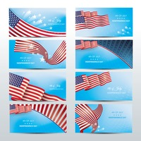 Usa independence day banners collection