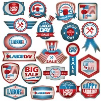 Popular : Usa labor day labels collection