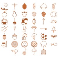 Various autumn objects