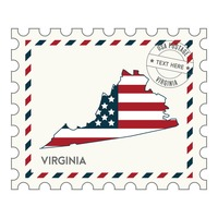 Virginia postage stamp