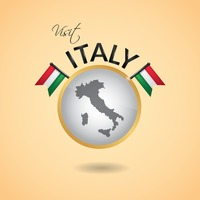 Visit italy concept