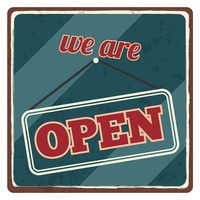 We are open sticker