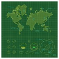 Popular : World map infographic elements