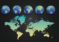 World map with globe design