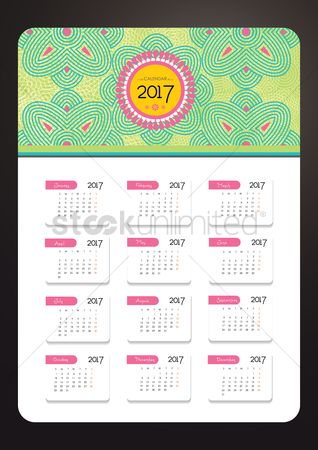 Oct : 2017 intricate floral calendar