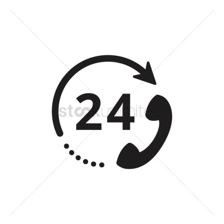 Customers : 24 hours customer service icon