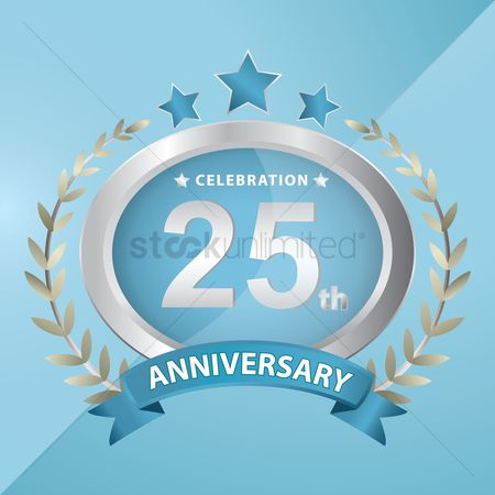 Laurel : 25th anniversary celebration emblem