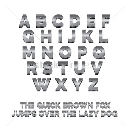 Fonts : 3d alphabets
