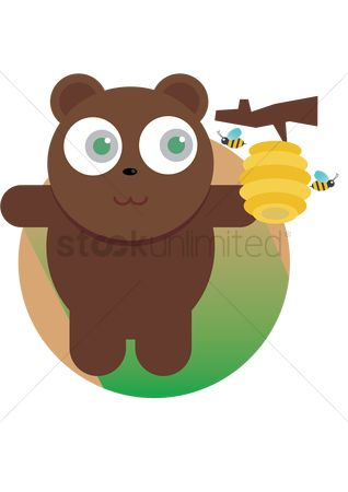Honeycomb : A bear with honeycomb