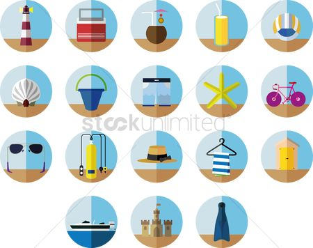 Lighthouses : A collection of beach items
