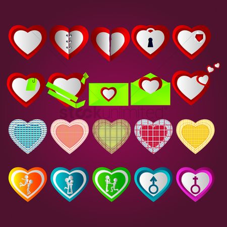 Proposal : A collection of heart icons