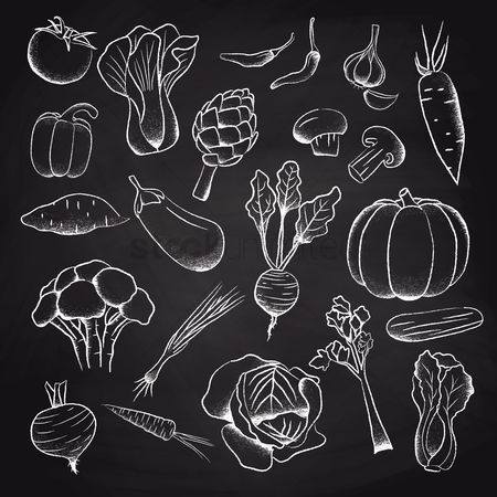 Blackboard : A collection of vegetables