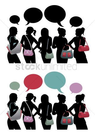Handbags : A group of ladies with handbags