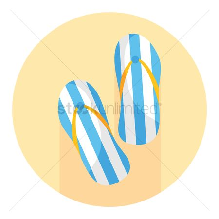 Sandal : A pair of slippers