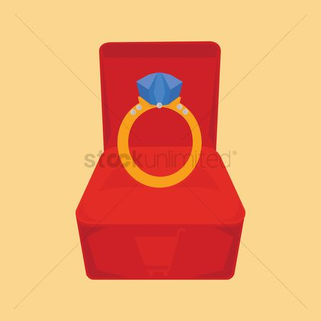 Engagements : A ring in a ring box