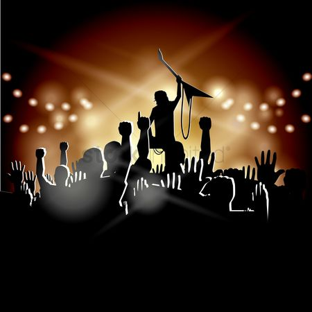 Musicals : A rock star and the audience