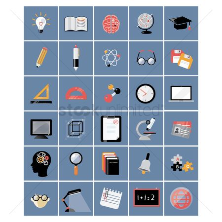 Cogwheels : A set of education icons