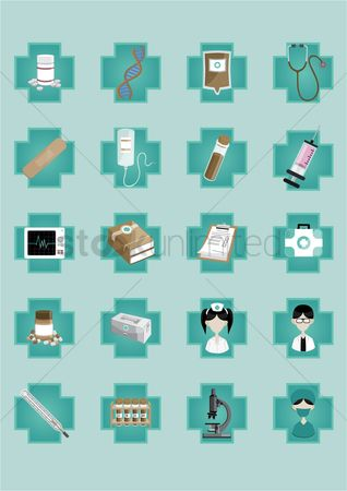 Medicines : A set of medical icons