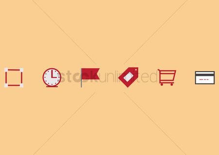 Hypermarket : A set of shopping icons