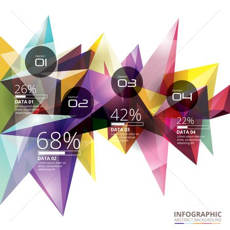 Multicolor : Abstract background infographic
