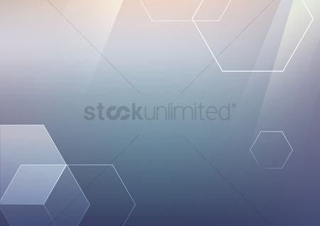 Decorations : Abstract background with hexagons