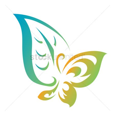 Logo : Abstract butterfly icon
