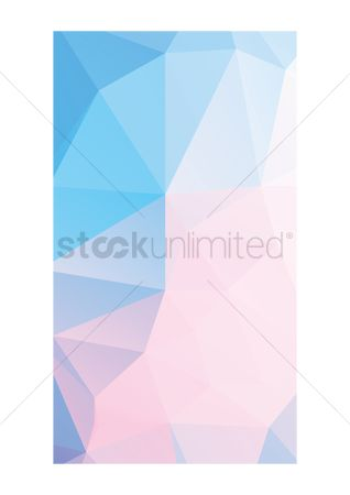 Gradient : Abstract faceted wallpaper