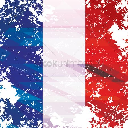 Tricolored : Abstract french flag background