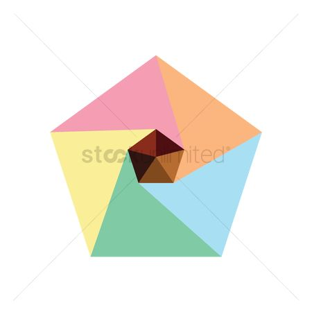 Pentagons : Abstract geometric design