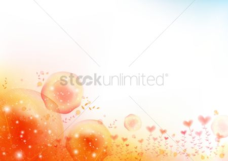 Season : Abstract heart background