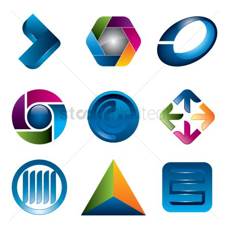 Geometrics : Abstract icon set