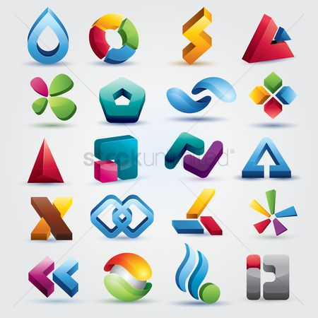 Sets : Abstract icons set