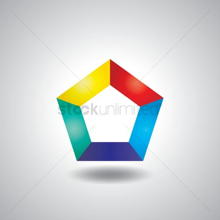Pentagons : Abstract logo