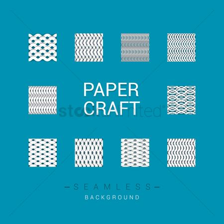Paper : Abstract paper craft set