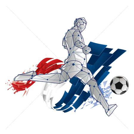 Football : Abstract soccer player design