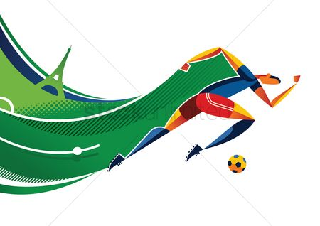 Soccer : Abstract soccer player design
