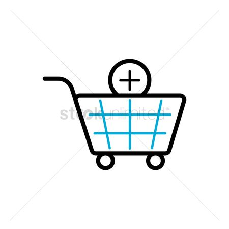 Plus : Add item to shopping cart symbol
