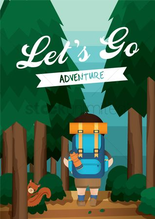 Touring : Adventure poster design