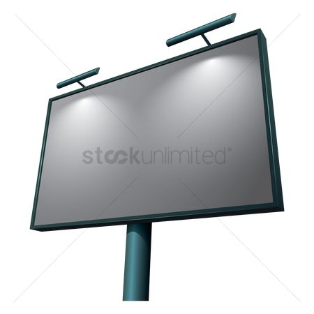 Signages : Advertising blank billboard