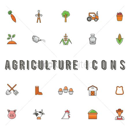 Wheats : Agriculture icons set