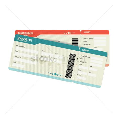 Vectors : Airline ticket