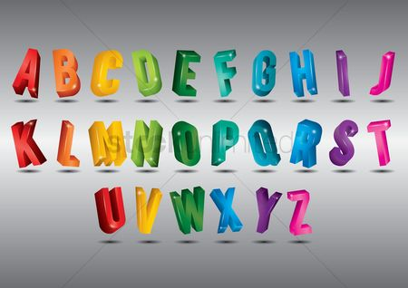 Fonts : Alphabet set