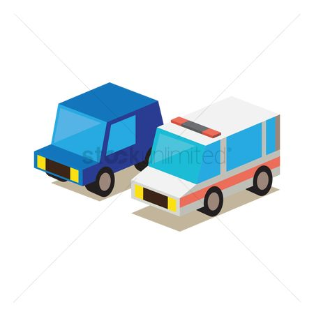 Doughnut : Ambulance with car