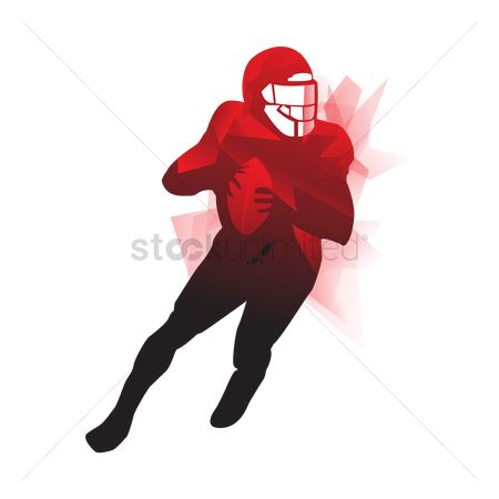 American football : American football player in action