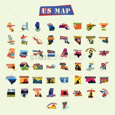 New york : American states maps