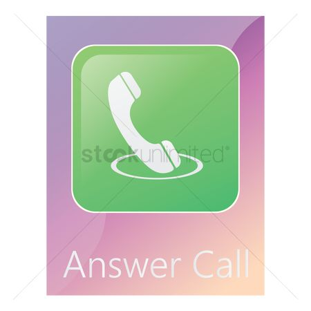 Pick up : Answer call mobile app icon