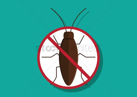 Caution : Anti-cockroach icon