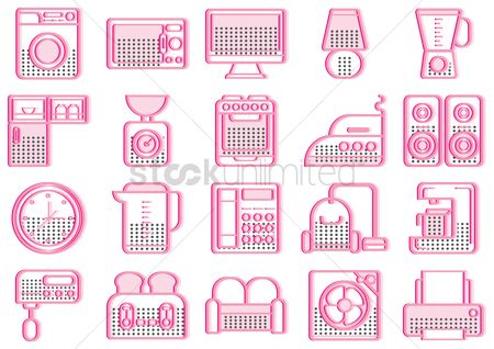 Cleaner : Appliances and household icons