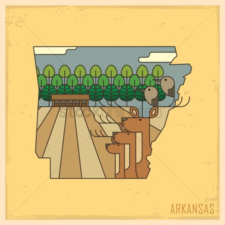Crater of diamonds state park : Arkansas state map