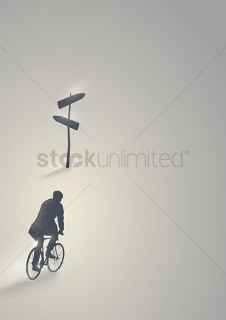 Signages : Artwork of a man cycling